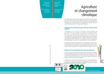 Agriculture et changement climatique - Ministère du Développement ...