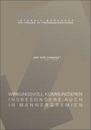 WIRKUNGSVOLL KOMMUNIZIEREN ... - The Talk Company