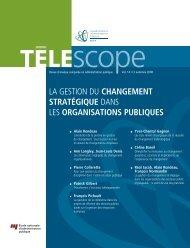 changement stratégique - Telescope Accueil - ENAP