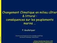 Changement Climatique en milieu côtier & littoral ... - EDF