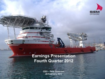 Company Presentation 4Q 2012 - Siem Offshore AS
