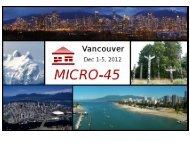 Presentation - Microsymposia.org