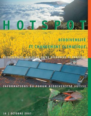 Biodiversité et changement climatique - Swiss Biodiversity Forum