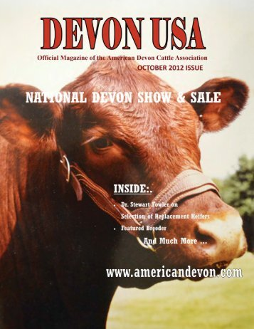 By: Guille Yearwood - American Devon Cattle Association