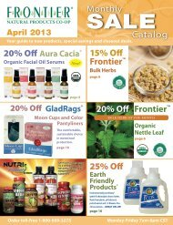 Monthly Sale Catalog - Frontier Coop