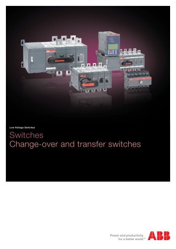 Switches Change-over and transfer switches