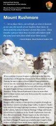 brochure - Mount Rushmore Bookstore