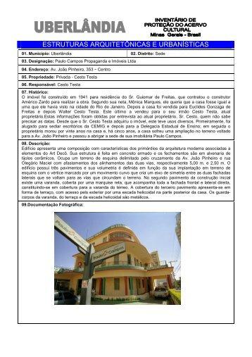 João Pinheiro 353 - Prefeitura Municipal de Uberlândia