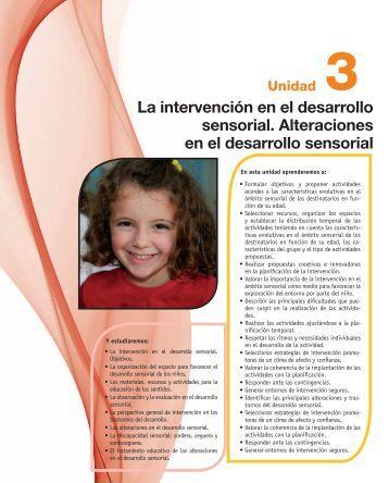 La intervención en el desarrollo sensorial ... - McGraw-Hill