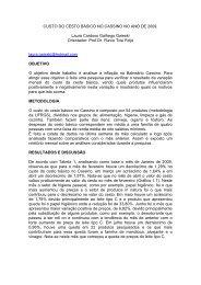 CUSTO DO CESTO BÁSICO NO CASSINO NO ANO DE 2009 - Furg