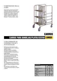CARROS PARA BANDEJAS/PLATOS/CESTOS - Electrolux