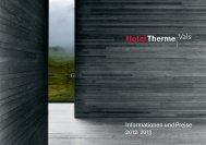 Informationen und Preise 2012 2013 - Therme Vals