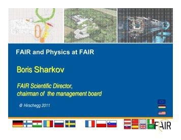 Boris Sharkov - FAIR