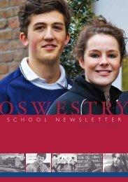 S C H O O L N E W S L E T T E R - Oswestry School