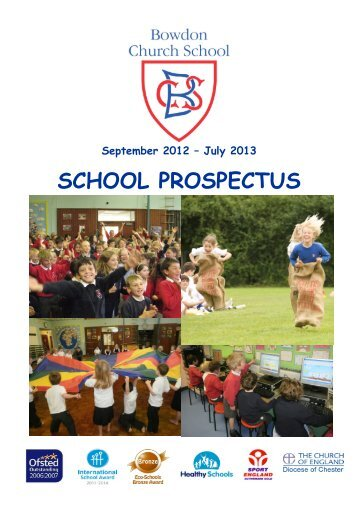 SCHOOL PROSPECTUS - Bowdon C of E Primary School