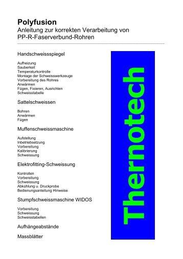 Polyfusion mit dem Handschweissspiegel - Thermotech