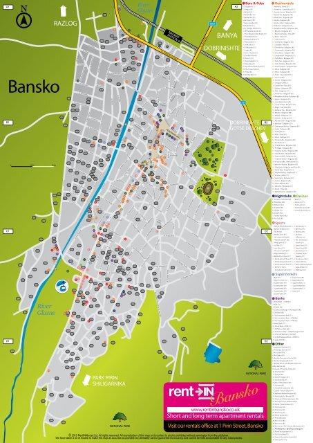 Bansko S Street Map Visitor S Guide 2010 Bansko Maps