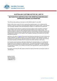 australian customs notice no. 2007/19 - Australian Customs Service