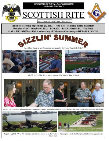 September 2012 SR Newsletter - Scottish Rite - Valley of Wilmington ...