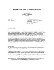 PSc 5603: Russian Politics in Comparative Perspective