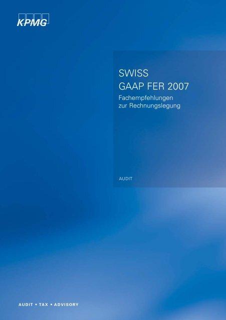 SWISS GAAP FER 2007 - the THR Rüegg & Partner AG website.