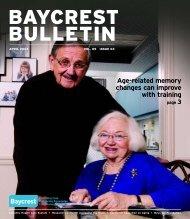 Baycrest Bulletin - April 2007