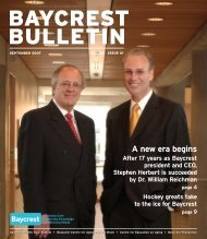 Baycrest Bulletin - September 2007