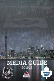 MEDIA GUIDE - Toronto Maple Leafs
