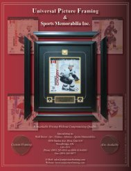 Universal Picture Framing & Sports Memorabilia Inc.