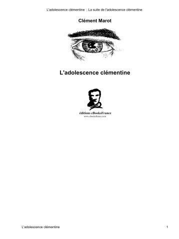 L'adolescence clémentine - Ebooks libres et gratuits