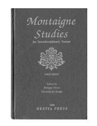 téléchargement gratuit (pdf) - Montaigne Studies - University of ...