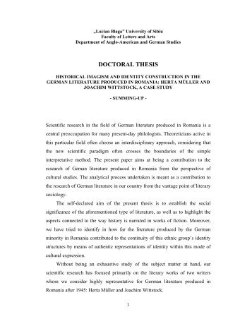 doctoral thesis