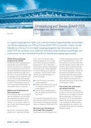 Umstellung auf Swiss GAAP FER - the THR Rüegg & Partner AG ...