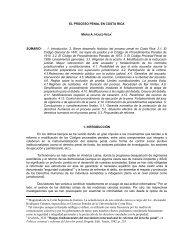 El proceso penal en Costa Rica