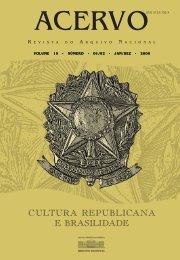 Cultura Republicana e Brasilidade - Arquivo Nacional