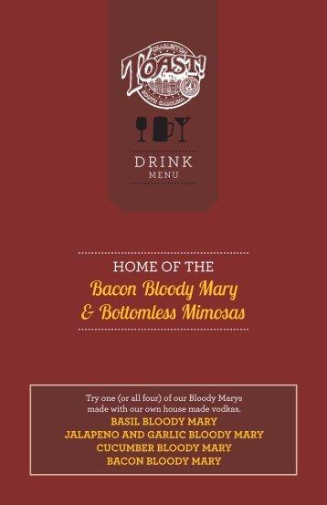 Bacon Bloody Mary & Bottomless Mimosas - Toast!