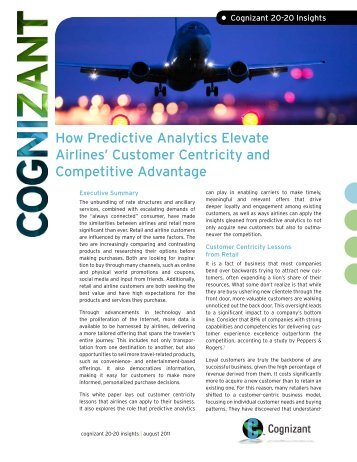 How Predictive Analytics Elevate Airlines' Customer Centricity and ...
