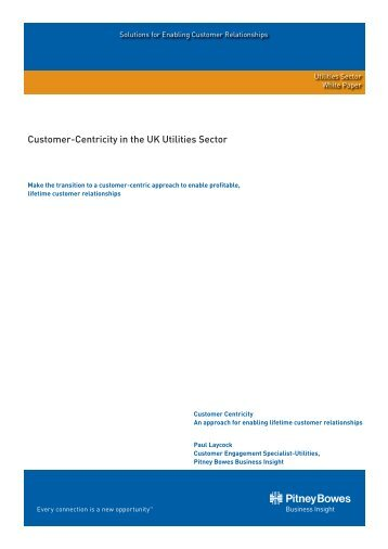 White Paper - Customer Centricity - Pitney Bowes