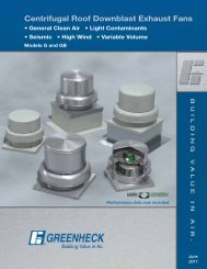 Centrifugal Roof Downblast Exhaust Fans - Greenheck Fan