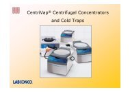 CentriVap® Centrifugal Concentrators and Cold Traps - Chiron