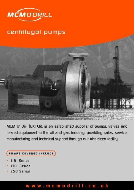 centrifugal pumps - MCM O'DRILL