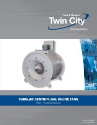 tubular centrifugal inline fans - Twin City Fan & Blower