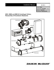 Installation Manual WSC, WME and WMC-B Centrifugal Chillers ...