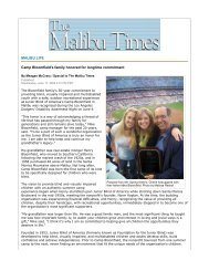 MALIBU LIFE Camp Bloomfield's family honored for longtime ...
