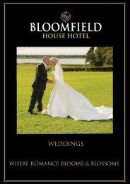 Wedding Brochure - Bloomfield House Hotel, Mullingar