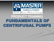 fundamentals of centrifugal pumps - Master Pumps and Power