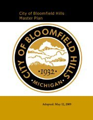 Master Plan - Bloomfield Hills