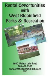 the Rental Brochure for 2013 - West Bloomfield Parks & Recreation