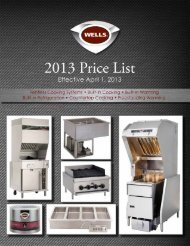 2013 Price List - Wells-Bloomfield
