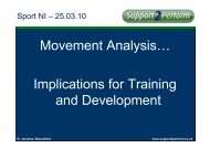 Implications for Training and Development - Sport Northern Ireland